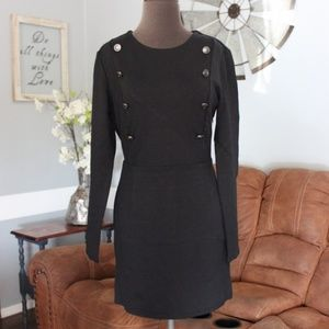 NWT Avec Les Filles Black Long Sleeve Dress